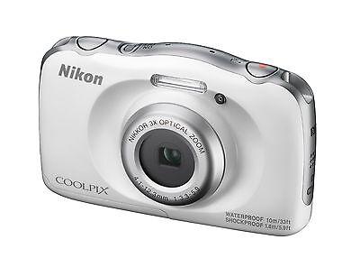 wasserdichte Kompaktkamera Nikon COOLPIX W100 WEISS mit 13,2MP und 3x Zoom