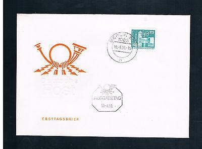 """Briefmarken DDR 1980 """" Aufbau in der DDR """" FDC"""
