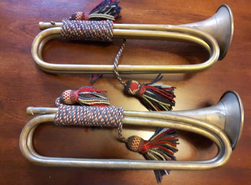 Antique Whaley Royce&Co brass bugles