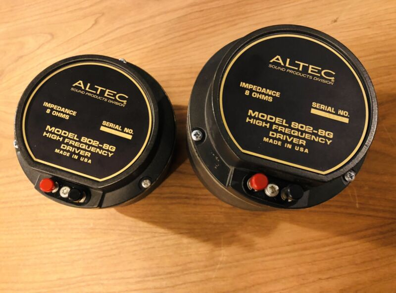 Altec 802-8G Compression Drivers Pair 1""