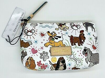 NEW Dooney & Bourke Disney Parks Sketch Dogs Cosmetic Case Stitch Pluto, Lady