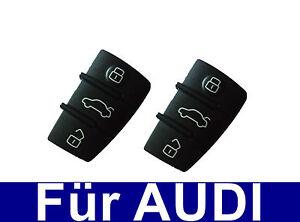 2x-3tasten-AUTO-CHIAVE-Pannello-TASTI-TASTI-GOMMINO-PER-AUDI-A3-A4-A5-A6-A8
