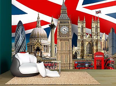 UK London Mix Old New City Wall Mural Photo Wallpaper GIANT WALL DECOR