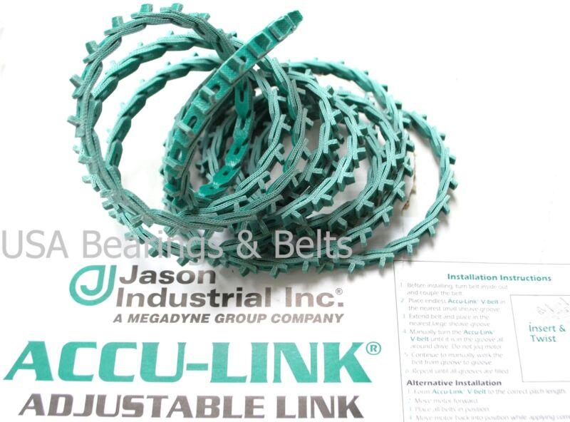 Accu Link Adjustable Link V-Belt 3L 3/8 Width x 5 Linear Feet Adjustable Belt G