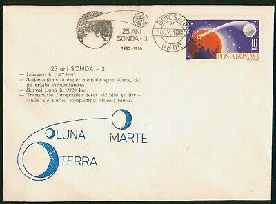 Mayfairstamps Romania 1990 Earth Moon Star Cover wwo_60057