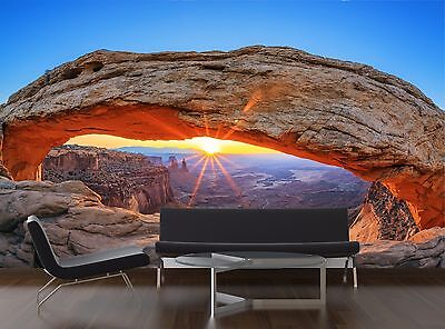 Mesa Wallpaper (Sunrise at Mesa Arch in Canyo 3D Wallpaper Mural Wall Paper Background Furniture)