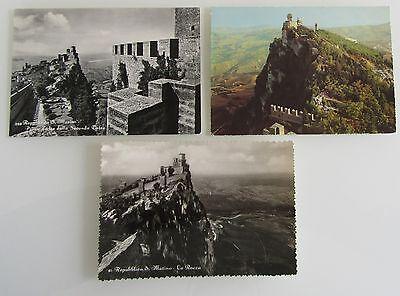 3x Republik SAN MARINO Postkarten Postcards Lot ungelaufen unused ca. ab 1960