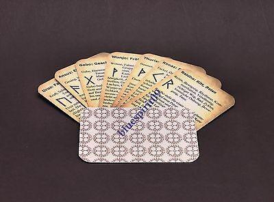 25 Runen Orakel Karten mit Bedeutung / Wahrsagen ohne suchen z.B. in einem Buch