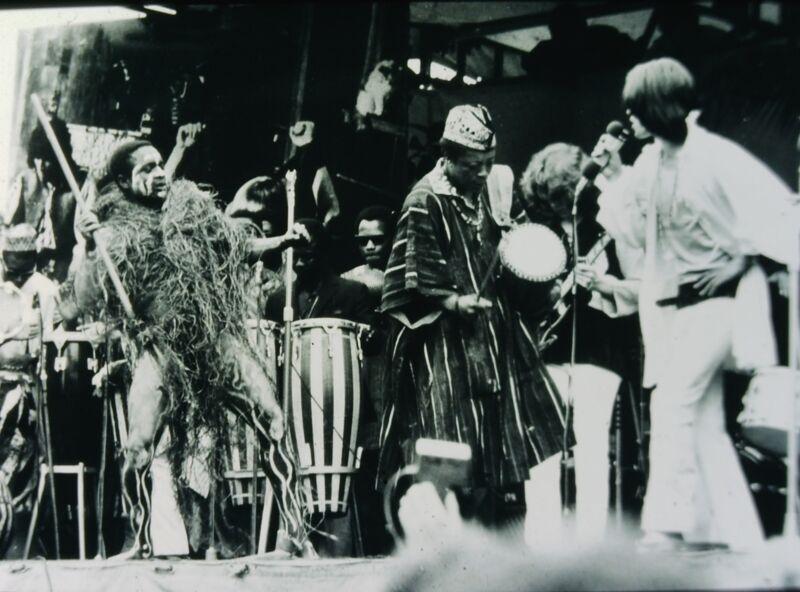 THE ROLLING STONES - English Rock Band - Original 35mm B/W Slide - 1969