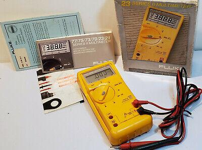 Fluke 23 Series Ii 2 Analog Digital Multimeter Multitester Voltage Amp Meter