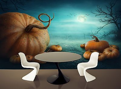 Halloween Pumpkins Wall Mural Photo Wallpaper GIANT WALL DECOR Paper Poster