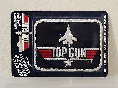 1986 ~TOP GUN PATCH~ F-14 Navy Fighter Pilot Patch Worn in Movie MINT IN PACKAGE
