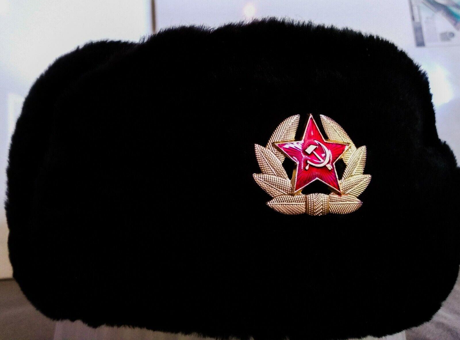Chapka  russe 61 - 62cm sovietique  chapeau cccp bonnet ski cadeau