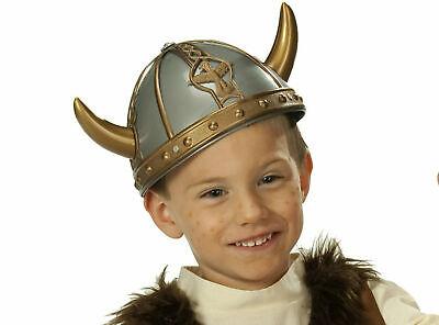 Wikinger Helm Kinder Wikingerhelm Larp Krieger Mittelalter Karneval Fasching  (Kinder Wikinger Helm)