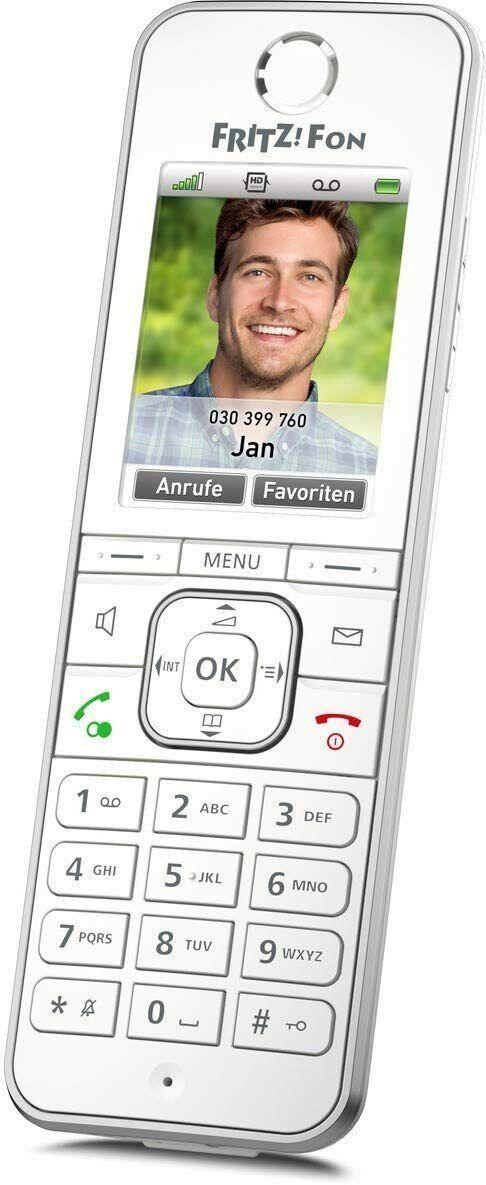 Festnetz Funk-Telefon AVM Fritz!Fon C6 DECT/IP GAP Anrufbeantworter 300m weiß