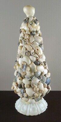 Vintage Handmade Seashell Christmas Tree Folk Art Sculpture Shell](Christmas Tree Art)