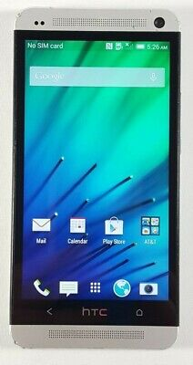 HTC One M7 32GB Silver (AT&T) Fair Condition Good IMEI