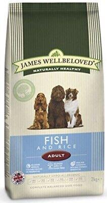 James Wellbeloved Fish And Rice Adult 2kg  Bag ( Complete Dog Food)