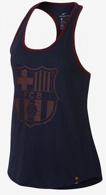 NIKE Barcelona FC Women's Training Tank Top/Vest Racerback Gym M - Barcelona Lightweight Training Top