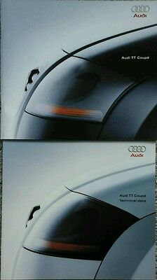 Audi TT Coupe Sales Brochure & Technical Data Specifications guide - June 1998 #