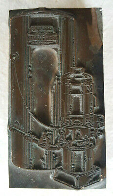 Myers Water System-antique Printing Press Block-wood Metal Copper-advertising