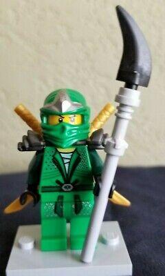 Lego Ninjago Green Ninja Minifig Lloyd ZX  w/2 Golden Swords -9450 Minifigure](Lego Lloyd)