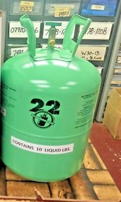 Refrigerant 22 R22 Disposable Cylinder 10 Lb Virgin R-22 Free Shipping
