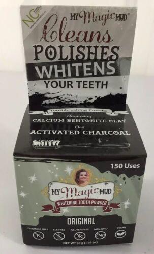 My Magic Mud Whitening Tooth Powder 1.06oz Jar Cleans Polish