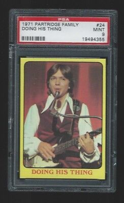 1971 Topps Partridge Family #24 Doing His Thing PSA 9