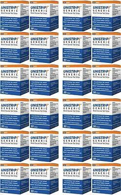 UniStrip Glucose Test Strips 24 x 50 Compatable with All Oneotuch Ultra Meter