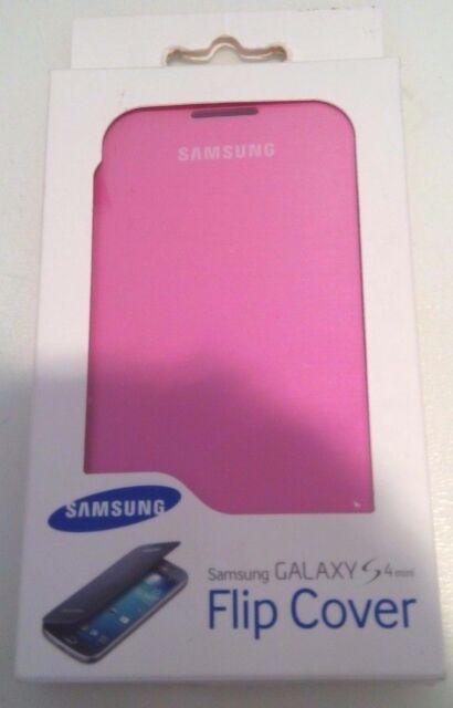 SAMSUNG GALAXY S4 MINI FLIP COVER CASE I9190 PINK SEALED GENUINE ORIGINAL