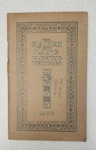 1908 Rauch & Lang Sales Catalog