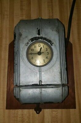 Vintage International Time Clock Original Piece With Key