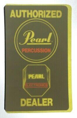 PEARL DRUM VTG 1980s Original Authorized Dealer Decal Sticker For Glass RARE NOS