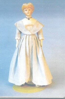 "17-18""ANTIQUE CHINA HEAD/PARIAN FASHION LADY DOLL DRESS&OVERDRESS&UNDIES PATTERN"