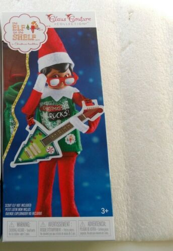 NEW Elf on the Shelf North Pole Rock & Roll Outfit Claus Couture