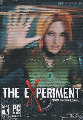 THE EXPERIMENT Adventure Mystery PC Game XP & Vista NEW Mystery Adventure Game