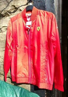 New Scuderia Ferrari Rosso Corso Lightweight Jacket by Puma Very Smart size Med