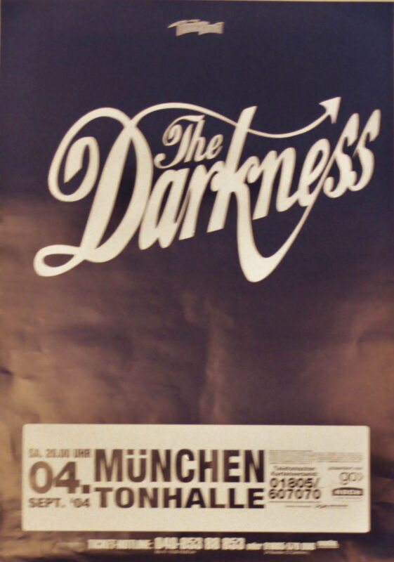 THE DARKNESS CONCERT TOUR POSTER 2004