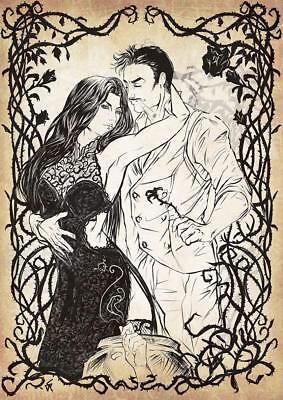 Poster Addams Familie Morticia und Gomez By Giusy Nikosia - Format A3 (42x30 cm) ()