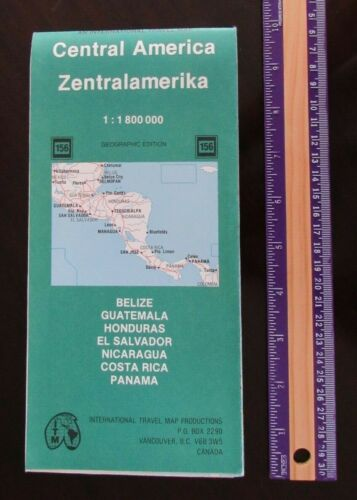 CENTRAL AMERICA MAP by International Travel Map Productions