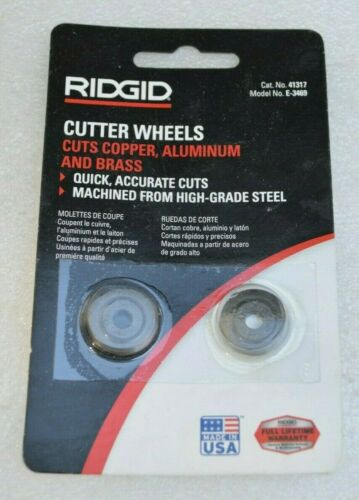 2 Ridgid Pipe Cutter Wheel Tubing Cutting 41317 Model E-3469  Replacement Wheel
