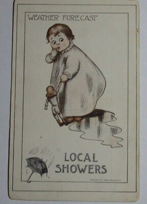 1910 Postcard By Roth   Langley Weather Forecast Local Showers