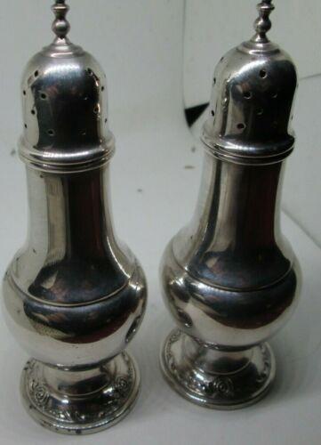 Antique Rare HEIRLOOM STERLING SILVER DAMASK ROSE SALT/PEPPER  [97 Grams] 1940