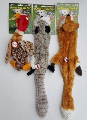 As Seen On TV ~ Stuffing-Free Crazy Critters Squeaking Dog Toys (Set of 3) Crazy Critters Dog