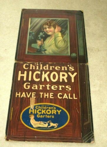 """1919 STORE-SIGN DISPLAY-TELEPHONE CANDLESTICK-PHONE BOOTH-CHILDREN GARTERS-64"""""""
