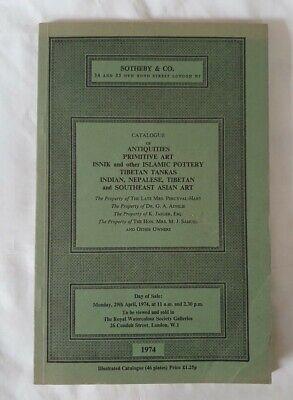 sothebys catalogue antiquities ISLAMIC indian asian tibetan primitive art APR74