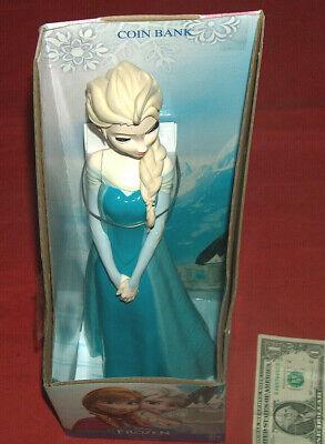 """Disney Frozen 14"""" Elsa Moneda Hucha Cerdito Ahorros Hucha sin Usar en Caja"""