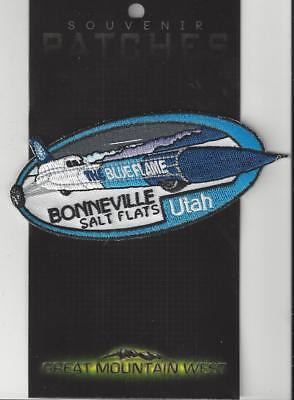 Bonneville Salt Flats Blue Flame Souvenir Utah Patch    - Bonneville Salt Flats
