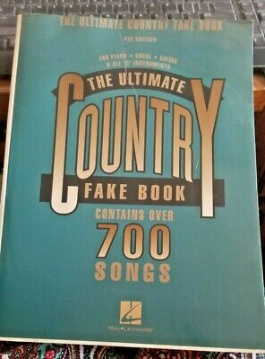 THE ULTIMATE COUNTRY FAKE BOOK – 4th Edition C -